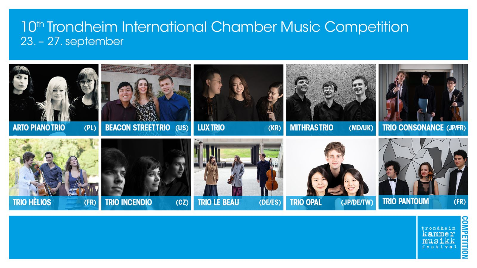 TRONDHEIM INTL CHAMBER MUSIC COMPETITION